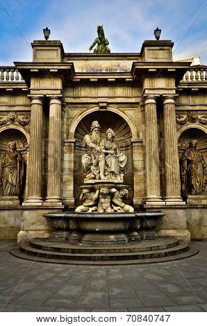 Neptune Fountain in Vienna, Austria
