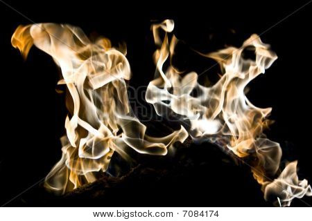 Smokey Flames Of Fire