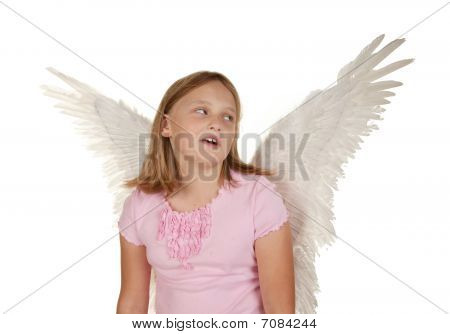 Young Girl With Angel Fairy Wings
