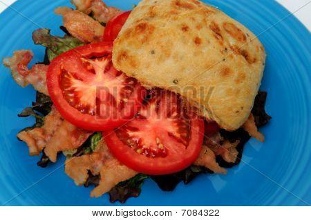 Bacon Lettuce And Tomato Closeup