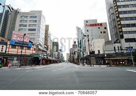 The Streets Of Asakusa Area Tokyo, Japan