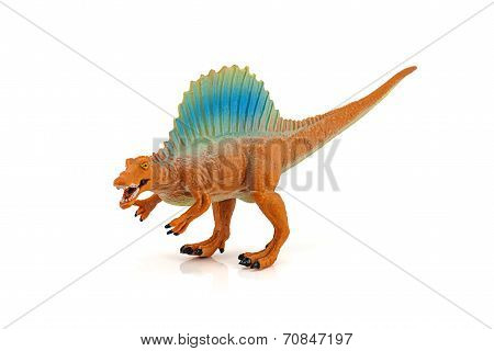 Spinosaurs Dinosarus Toy Figure Isolated On White Background