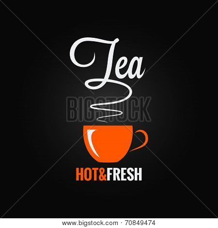 tea cup flavor design background