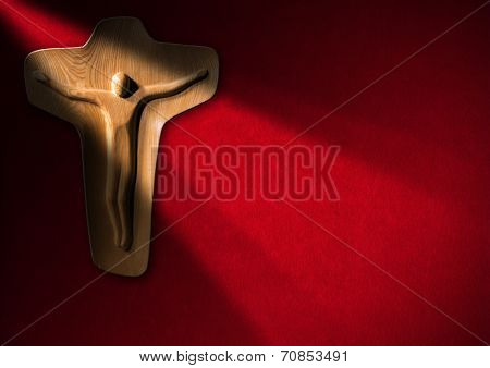 Religious Background - Wooden Crucifix