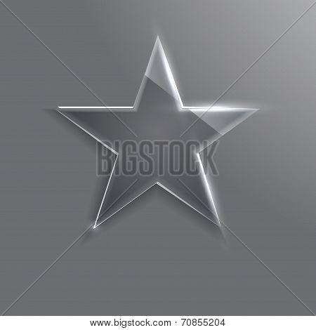 frame glass star.  illustration.