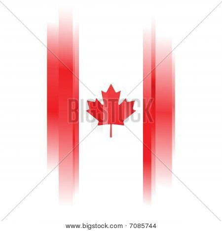 Abstract Canada Flag On White Background