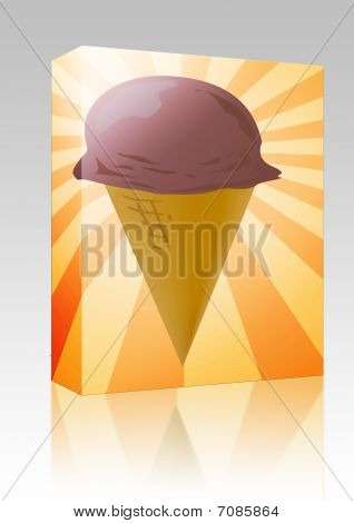 Ice Cream Cone Illustration Box Package
