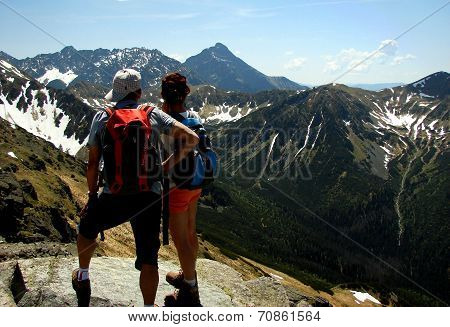 Tourists in Tatra National Park