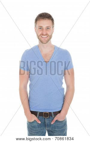 Handsome Mid Adult Man In Casuals