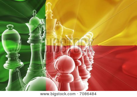 Flag Of Benin Wavy Business Strategy
