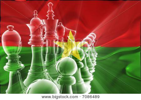 Burkina Faso Flag Wavy Business Strategy
