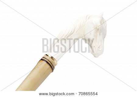 cane handle in the form of a horse's head