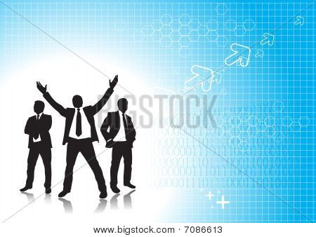businessman silhouetted