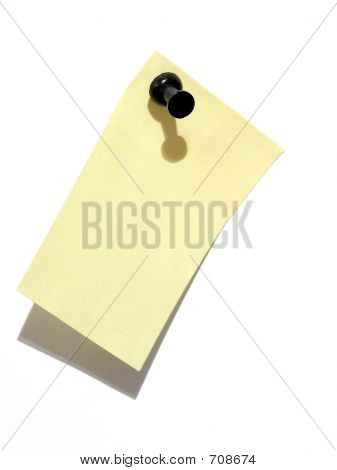 Sticky Note And Pin