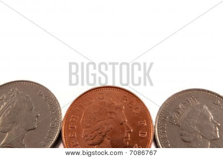 Background British coins.