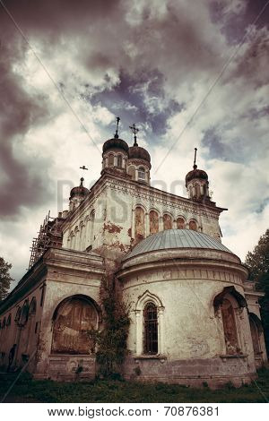 Orthodox Church. 17th century. LOMO filter