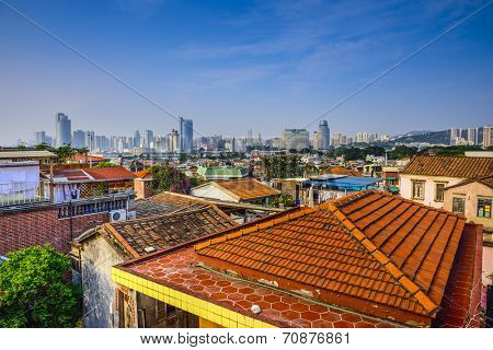 Xiamen, China cityscape from Gulangyu Island.  ATTN REVIEWER: See an Admin about this batch (re:case #01143506)