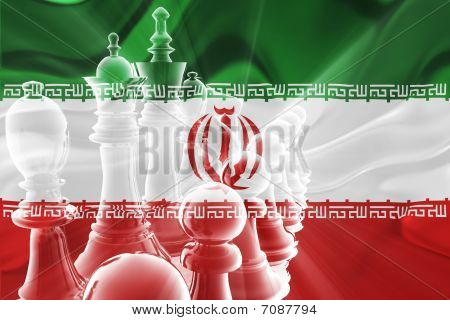 Flag Of Iran Wavy Business Strategy