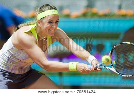 Victoria Azarenka In Action During The Mutua Madrid Open 2013 World Tour Masters 1000
