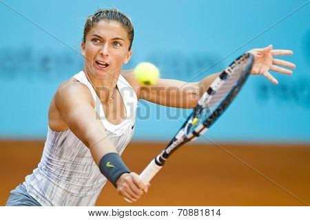 Sara Errani In Action During The Mutua Madrid Open 2013 World Tour Masters 1000