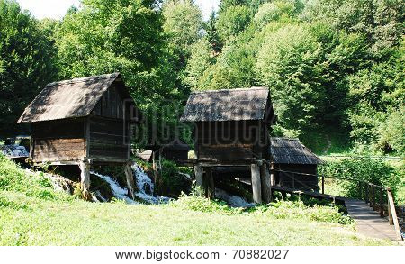 Mini Watermills On Pliva Lake