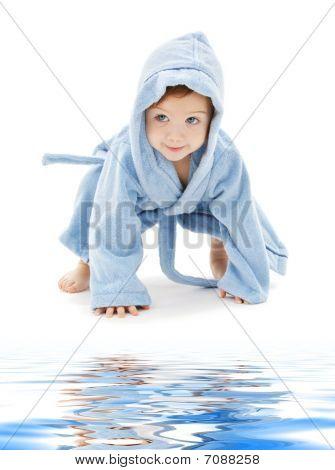 Baby Boy In Blue Robe