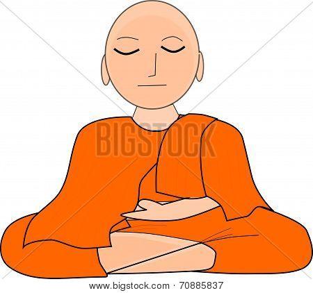 Buddha On A White Background.