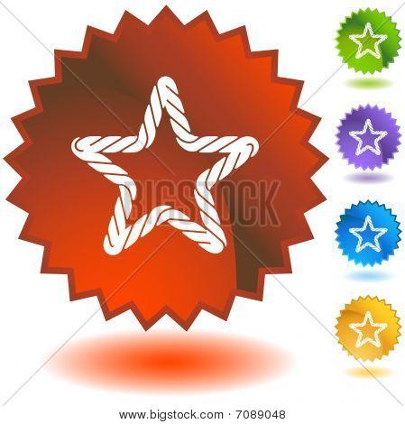 Rope Starburst Icon Set