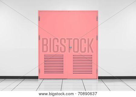 Pink Steel Door