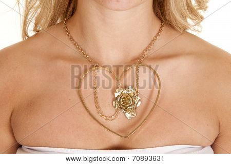 Hearts Rose Necklace