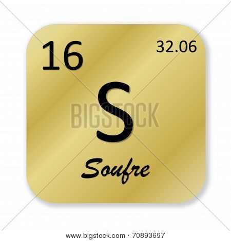 Sulfur element, french soufre