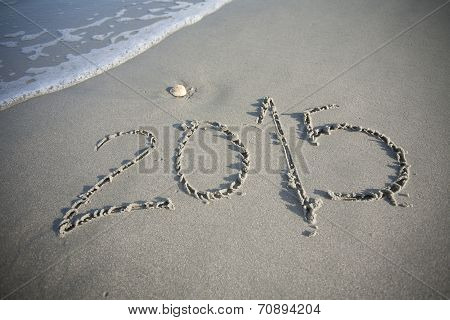 New Year 2015 in the Sand