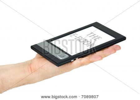E-book Reader Lie On Palm
