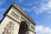 picture of charles de gaulle  - The impressive Arc de Triomphe in Paris France - JPG