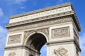 pic of charles de gaulle  - A view of the magnificent Arc de Triomphe in Paris France - JPG