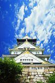 image of shogun  - Osaka Castle Osaka city Japan in the summer