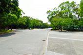 stock photo of shogun  - Osaka Castle Park Osaka Japan in the summer - JPG