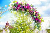 stock photo of wedding arch  - Arch for the wedding ceremony - JPG