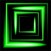 picture of neon green  - green neon square  background - JPG