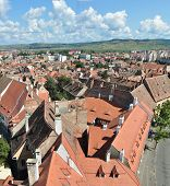foto of sibiu  - sibiu city romania general view houses roofs - JPG