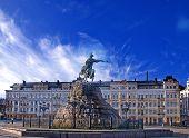 pic of bohdan  - Bogdan Khmelnytsky the historical monument in Kiev - JPG