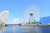 foto of kanto  - Yokohama Cosmoworld panoramic view over the bridge Japan - JPG
