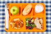 foto of loin cloth  - Tray of food for school a meals - JPG