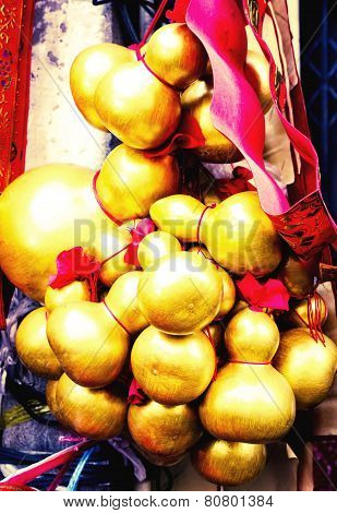 The golden gourds. Symbol of wealthy Chinese
