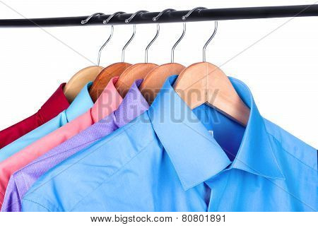 Shirt On A Hanger On A White Background