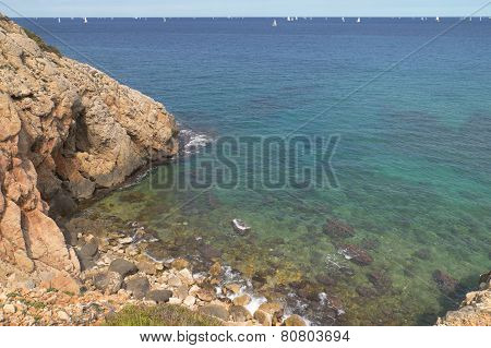 Mediterranean Coast In Valencia. Alicante, Spain