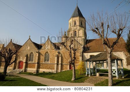 France, Church Of Saint Martin La Garenne In Yvelines