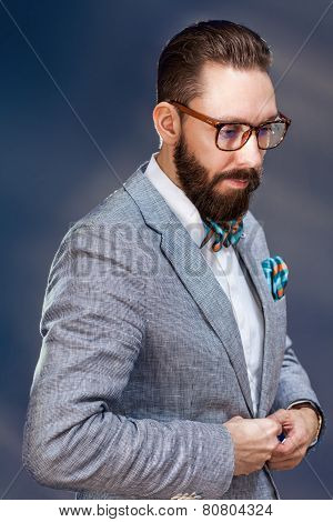 Portrait Of A Handsome Stylish Young Man