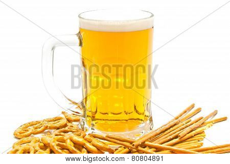 Breadsticks, Pretzels And Beer