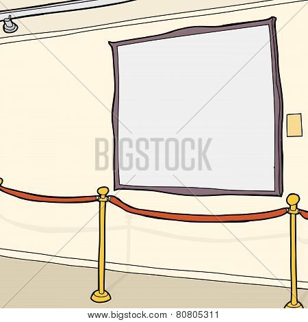 Art Gallery With Blank Frame